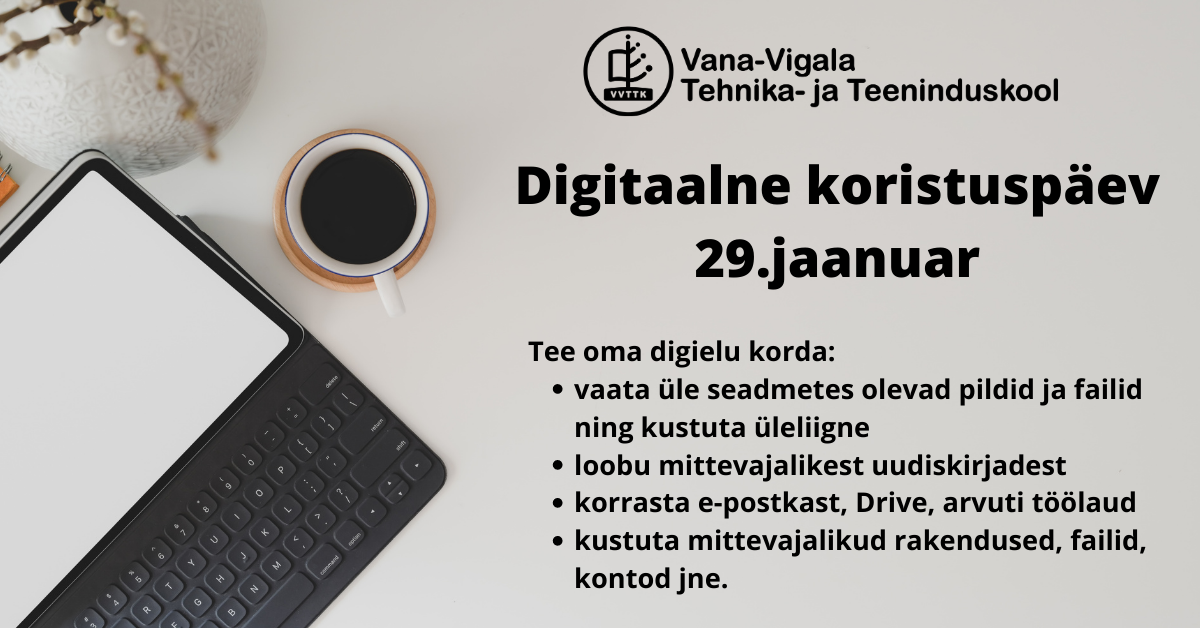Digitaalne koristuspäev 29. jaanuaril 2021