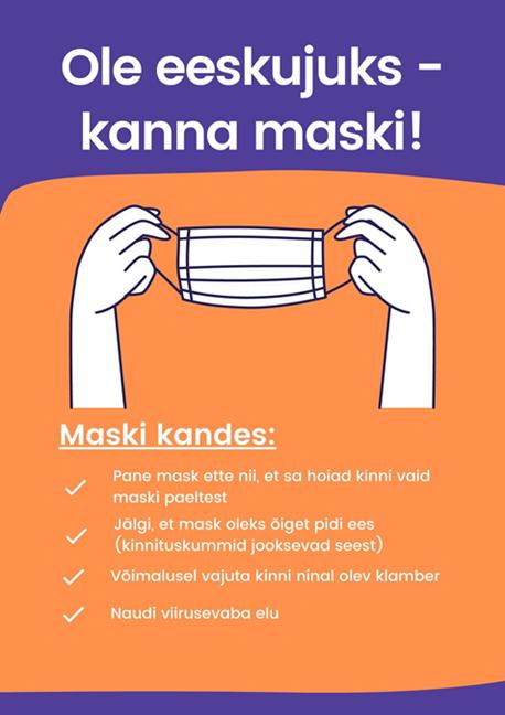 Ole eeskujuks - kanna maski!