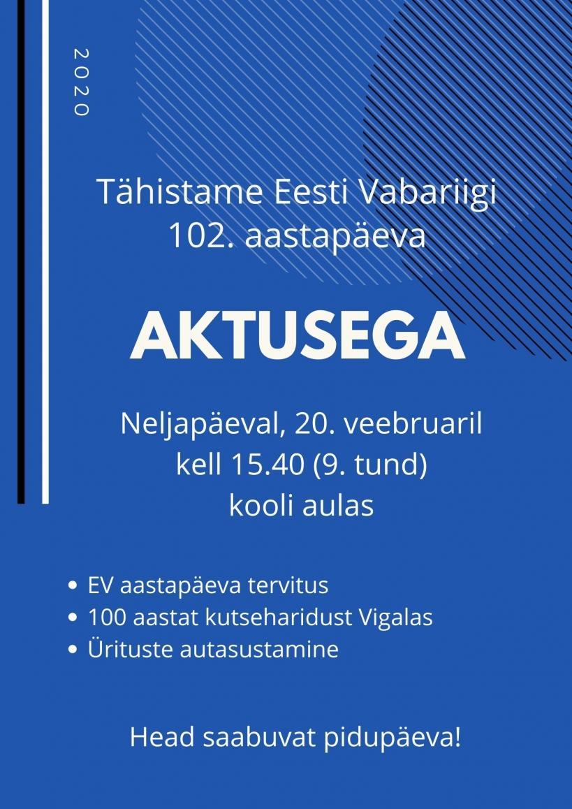 Eesti Vabariigi 102. aastapäeva aktus
