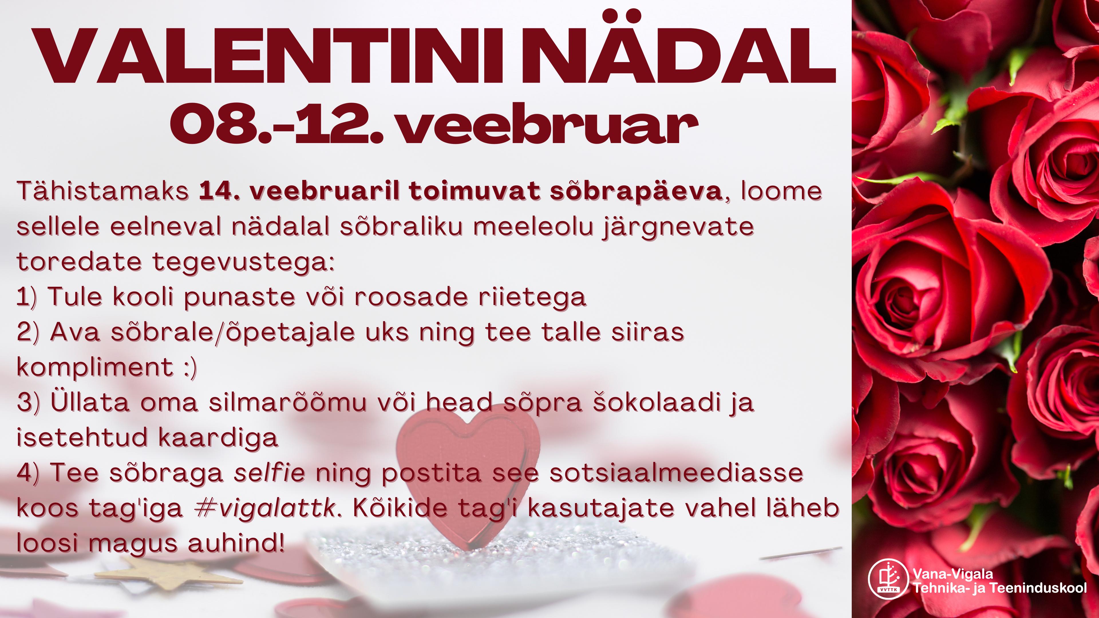 Valentininädal 08.-12.veebruaril